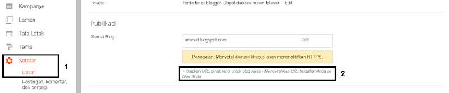 Menyiapkan URL Pihak Ke-3