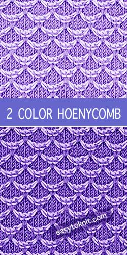 How To #Knit the Two color Hoenycomb stitch. Honeycomb with slip stitches, it's surprisingly easy-to-knit.