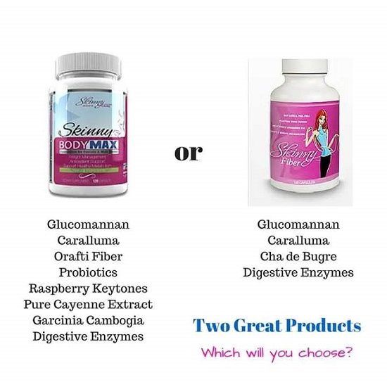 What Is The Difference Between Skinny Fiber and Skinny Body Max Weight Loss Pills?