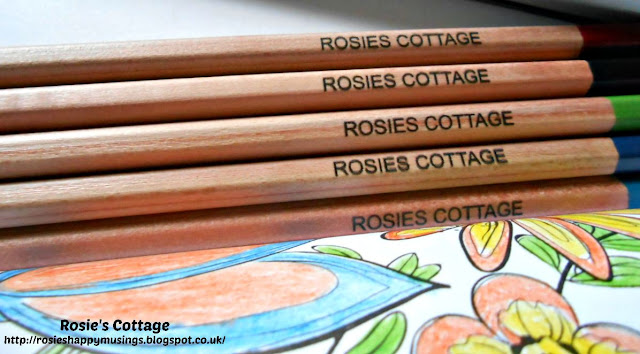 Personalised pencils have been making me smile while I colour..