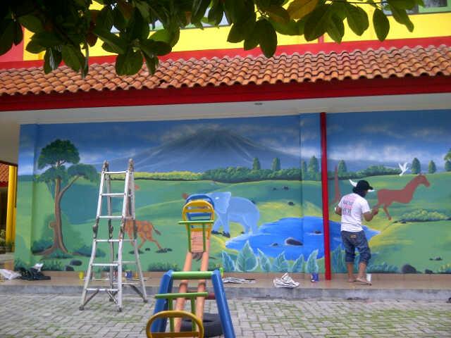Lukisan dinding sekolah berkualitas for Mural sekolah
