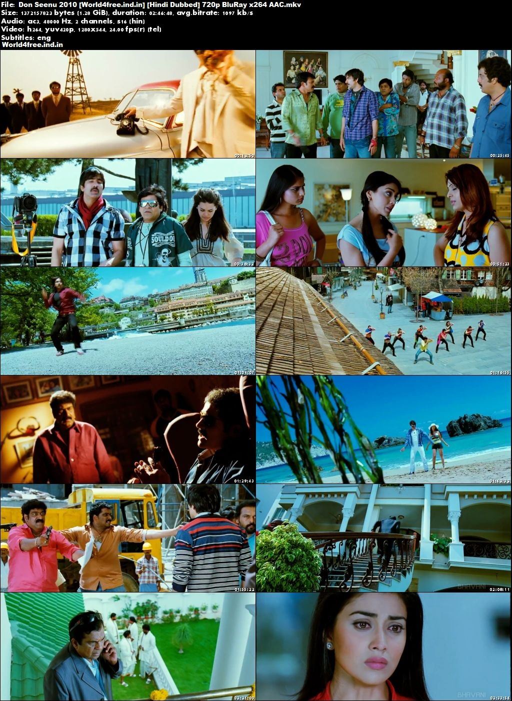 Don Seenu 2010 World4free.ind.in BRRip 720p Hindi Dubbed Movie Download