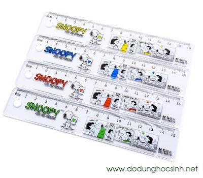 Thước kẻ 96079 15 cm hình chó Snoopy