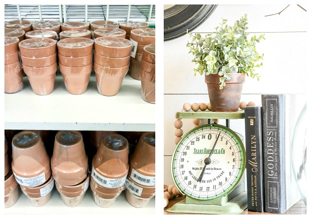 Dollar Tree terra cotta pots