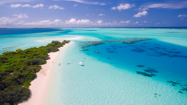 Beautiful Maldives Island and Ocean