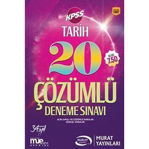 Murat KPSS Tarih Çözümlü 20 Deneme Sınavı 2017