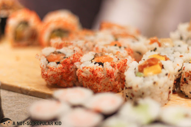 Sushi rolls in Spectrum of Fairmont