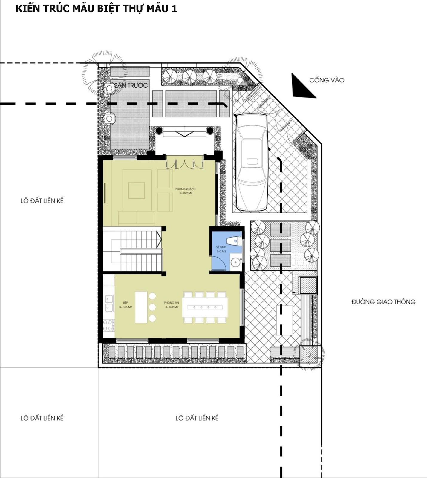 Mẫu Biệt thự thấp tầng - Dự án Hateco 3 và Hateco 5 Xuân Phương