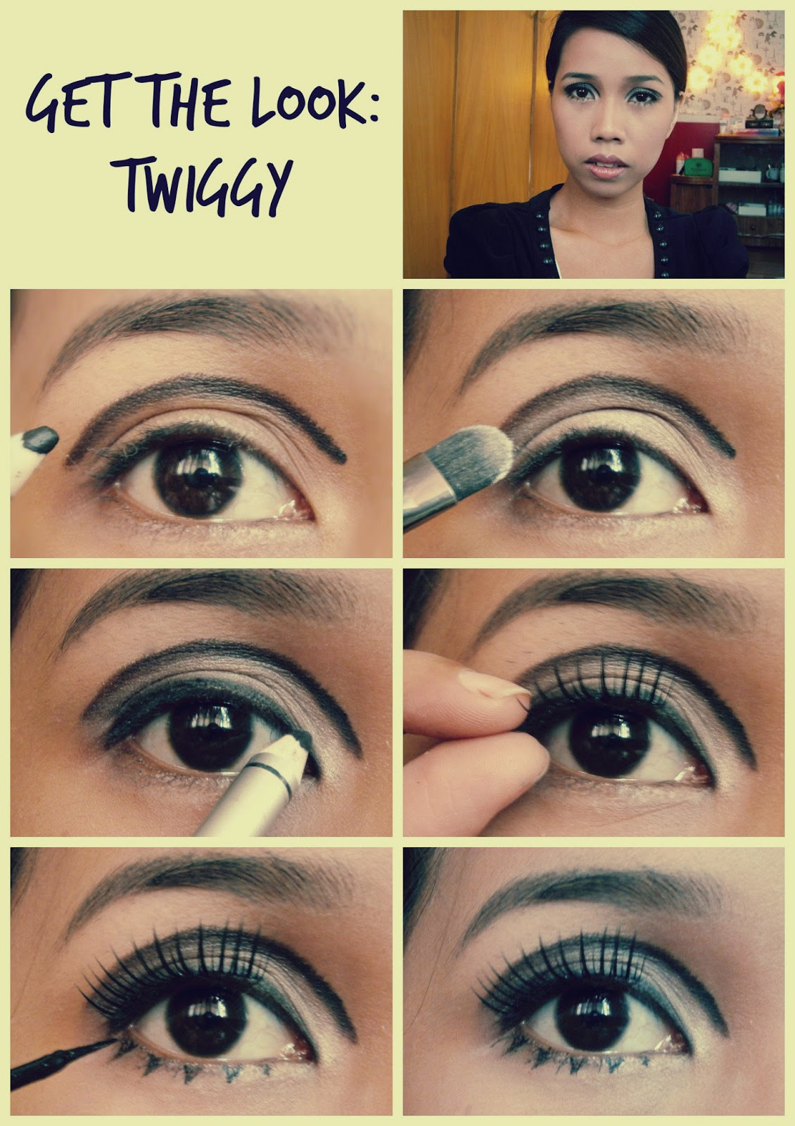 Get The Best Makeup Looks Inspired By Celebs: Mineeh11: Get The Look: Twiggy