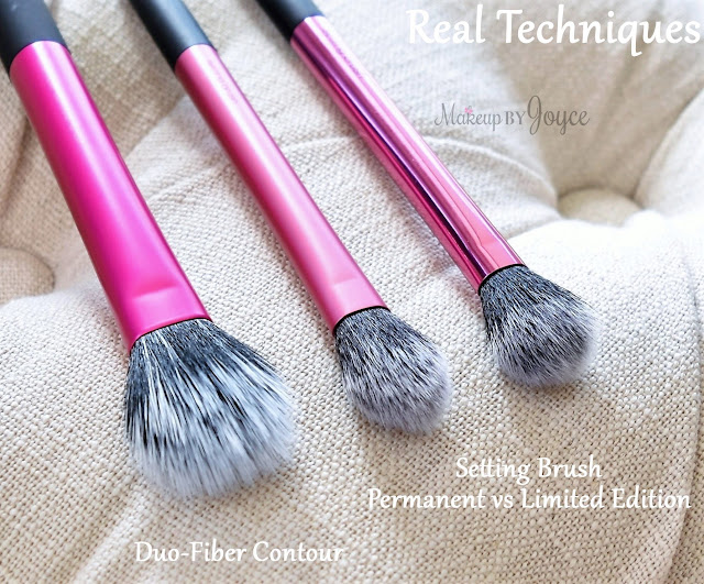 Real Techniques Dup Fiber Contour Brush vs Setting Brush Review Comparison
