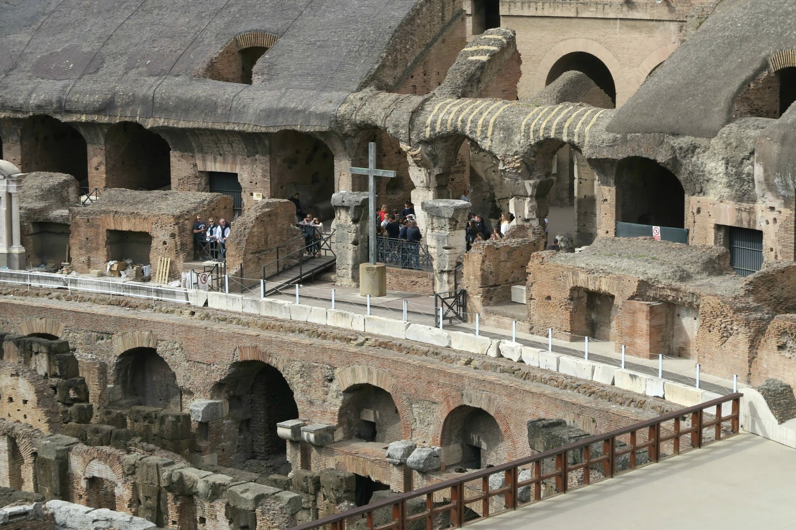 Inside the colloseum