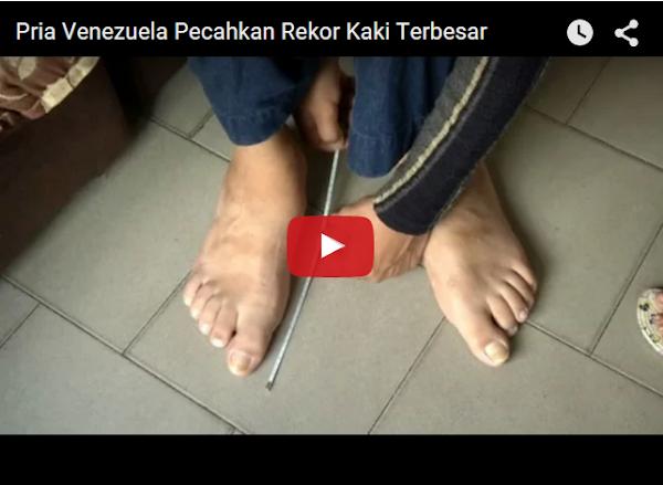 El hombre con los pies más grandes es Venezolano y no lo sabías