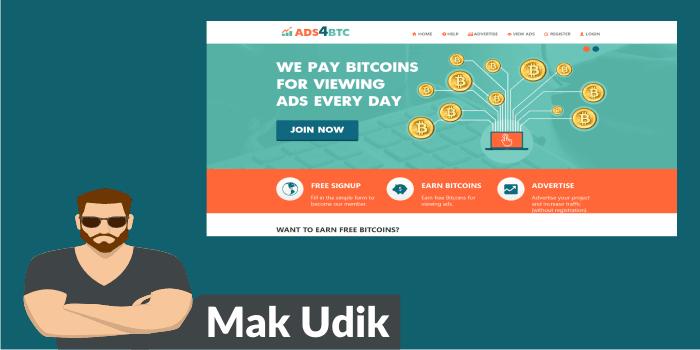 Cara Menghasilkan Bitcoin Gratis dari ads4btc.com