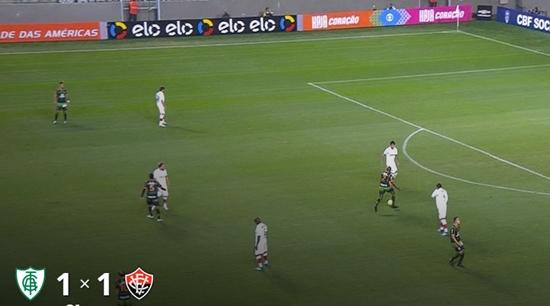 Vitória empate contra o América-MG