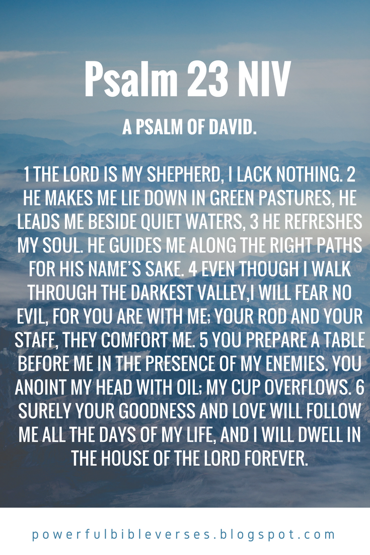 Psalm 23 NIV - Powerful Bible Verses