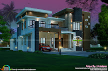 Contemporary 5 Bedroom 3727 Sq-ft - Kerala Home Design And
