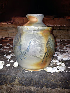 Dragon Mishima Lidded Jar by Lori Buff