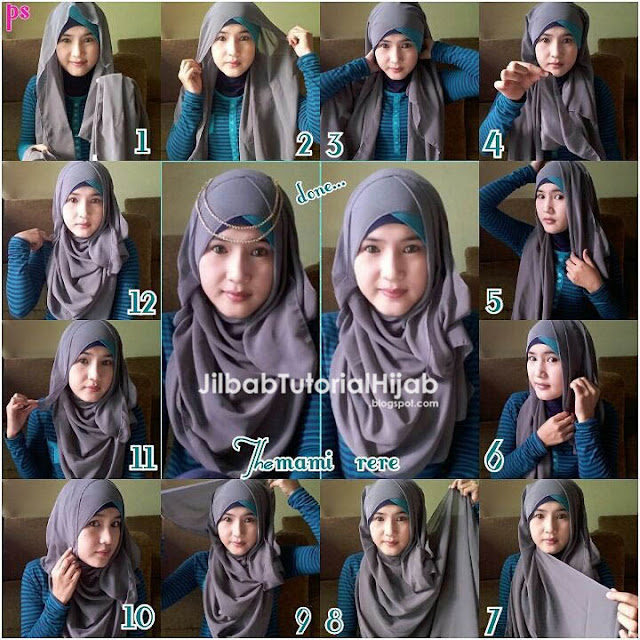 Tutorial Hijab Pashmina untuk Pesta Pipi Tembem atau Chubby Terbaru