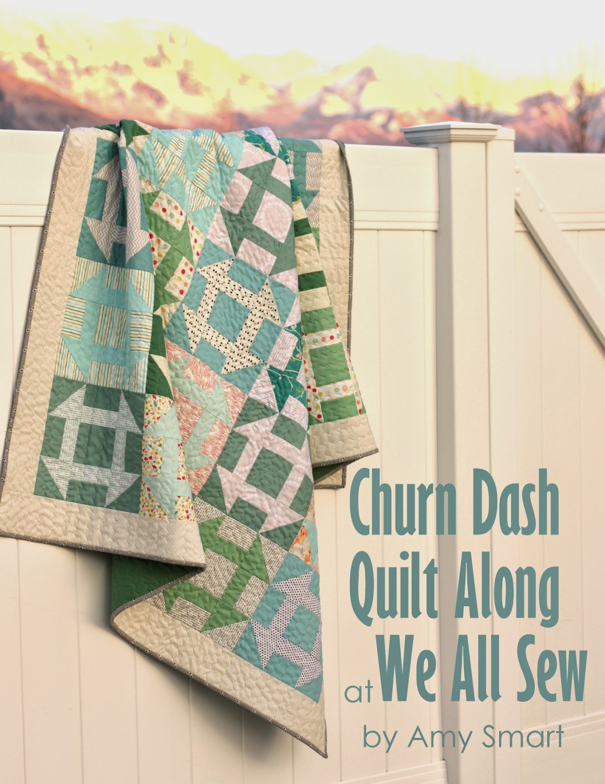 I'm hosting a Free Fast Churn Dash Quilt Along!