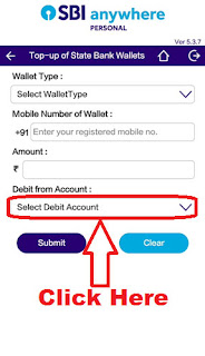 add money in state bank buddy wallet app through sbi anywhere app