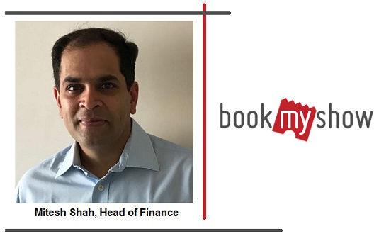 Mitesh Shah, Head of Finance, BookMyShow
