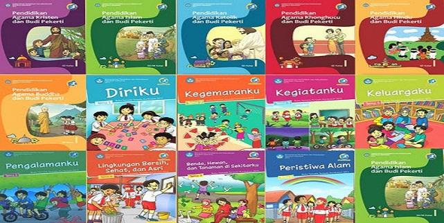 Download Buku Pelajaran Tematik SD kelas 1, 2, 3, 4, 5 dan 6 Terbaru