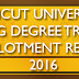 Calicut University UG Degree Trial Allotment Results 2016 @ www.cuoline.ac.in