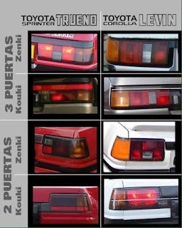 Sprinter Trueno VS Corolla Levin Taillight