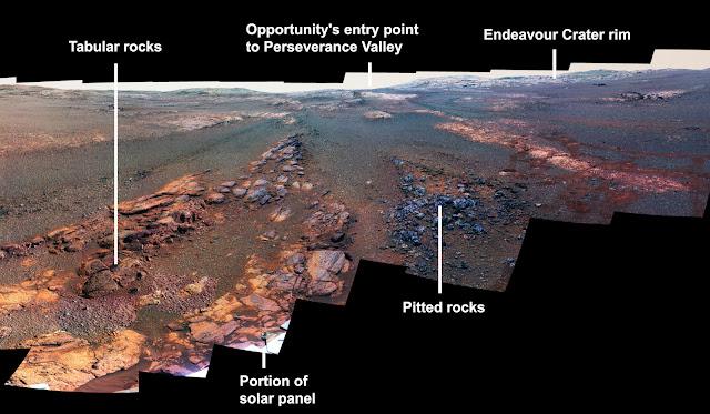 NASA merilis panorama terakhir yang diambil Peluang di Mars