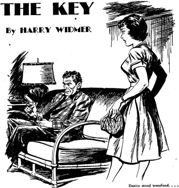 Dime Detective August 1952 - The Key  - Harry Widmer