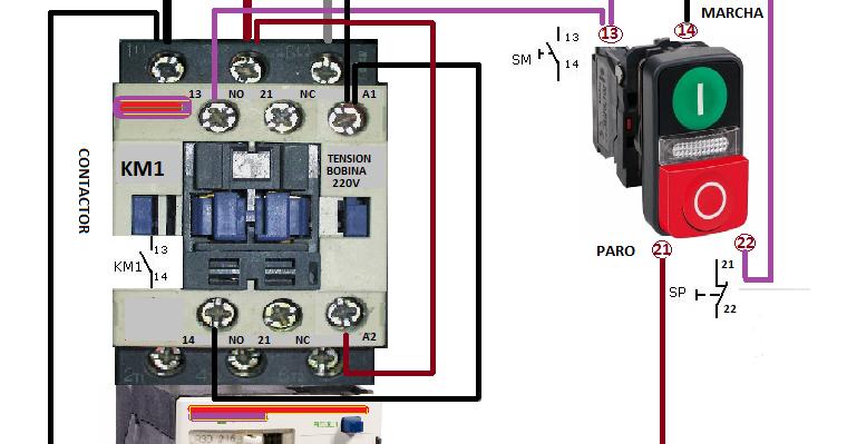 Electrical diagrams: MARCHA PARO