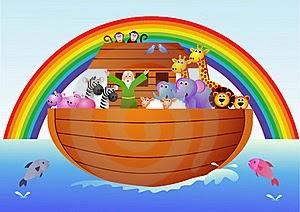 Resulta que tras el diluvio universal, el arca de Noé se movía para todos lados, y el patriarca Noé no encontraba explicación a ello.  Un día decide ir a visitar la cubierta de los animales, y he ahí el problema: Todos los animales hacían el amor. Noé enfadado les gritó: