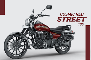 Bajaj Avenger street 150 Cosmic Red color