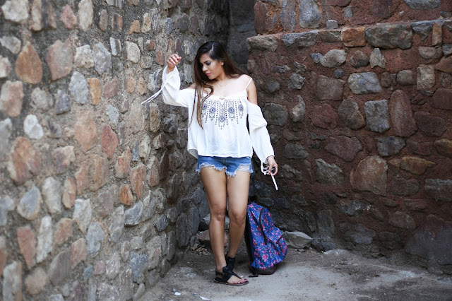 sammydress, dulla shoes, fashion, summer fashion trends 2016, holiday outfit, beach outfit, how to style off shoulder top, delhi blogger, floral bagpack, roman shoes, ripped jeans, how to style ripped shorts, ,beauty , fashion,beauty and fashion,beauty blog, fashion blog , indian beauty blog,indian fashion blog, beauty and fashion blog, indian beauty and fashion blog, indian bloggers, indian beauty bloggers, indian fashion bloggers,indian bloggers online, top 10 indian bloggers, top indian bloggers,top 10 fashion bloggers, indian bloggers on blogspot,home remedies, how to