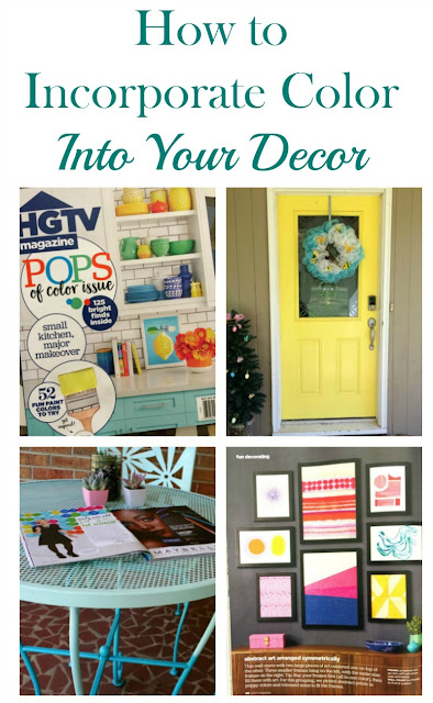 Here are some of the ways I incorporate color into my decor to hopefully inspire you to do the same.