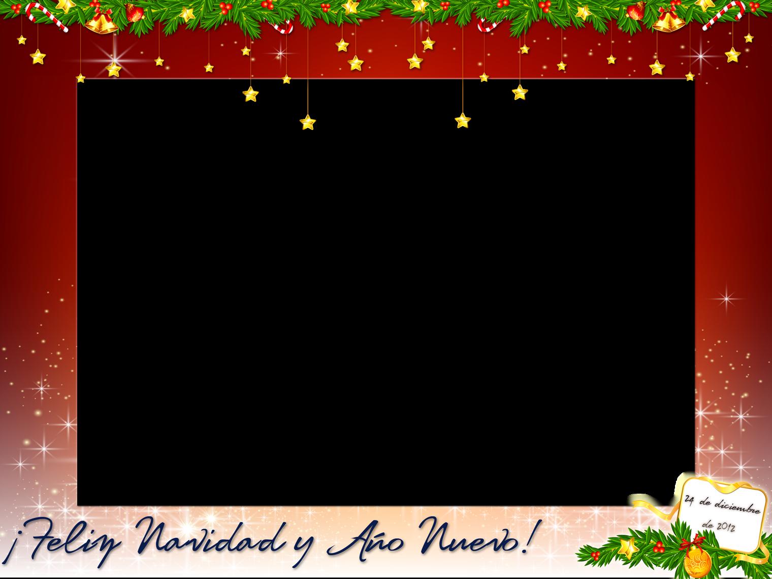 Marcos navide os para fotos digitales gratis - Decorar fotos de navidad gratis ...