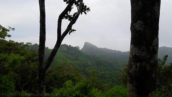 Pico de Loro's peak seen from afar