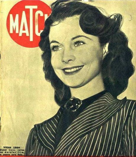 Vivien Leigh on the cover of Paris Match, 25 January 1940 worldwartwo.filminspector.com