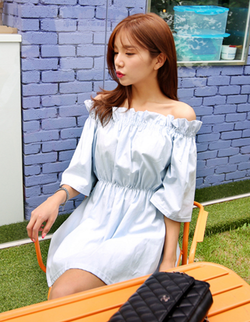 Off-Shoulder Flared Dress