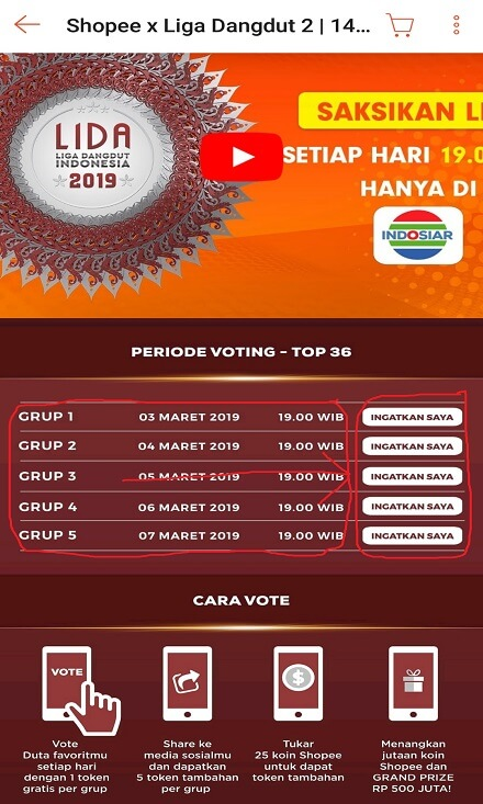 Periode Voting Liga Dangdut Indonesia di Shopee.