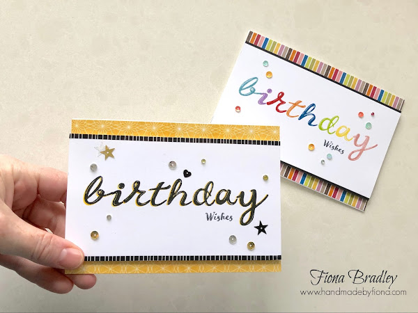 Birthday Lettering with the Stamparatus