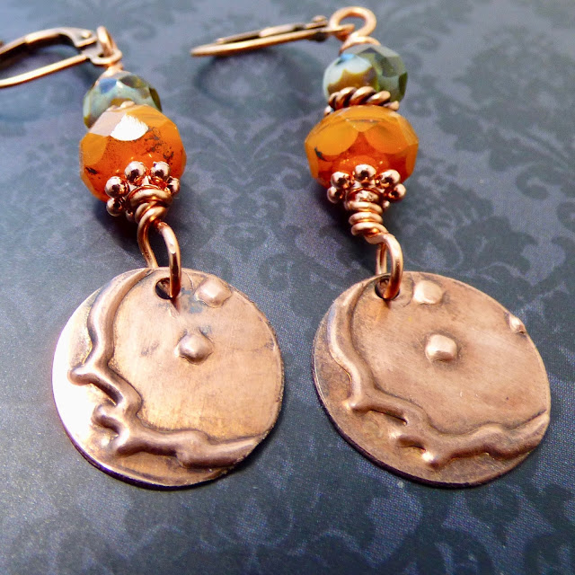 Harvest Moon Earrings by BayMoonDesign