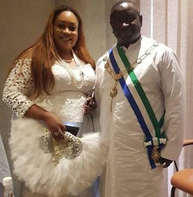 Omosede Igbinedion with President Julius Bio