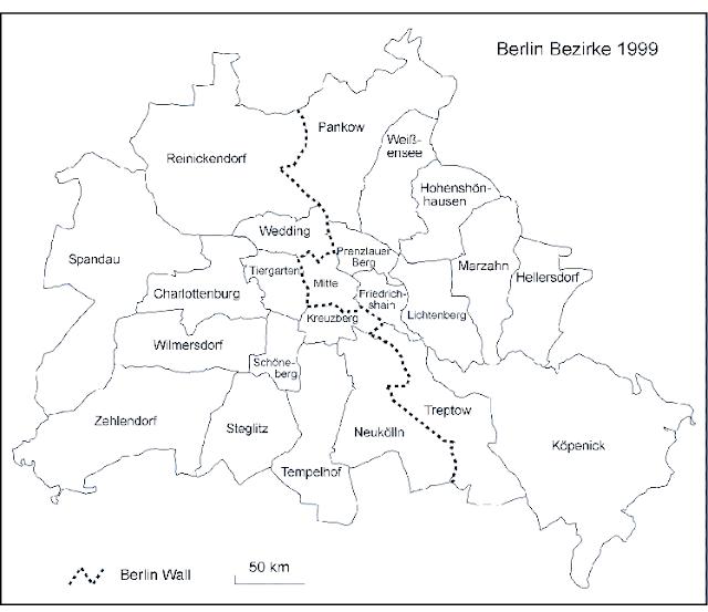 Berlin Blank Map