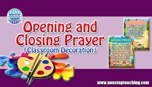 Opening and Closing Prayer (Classroom Decoration)
