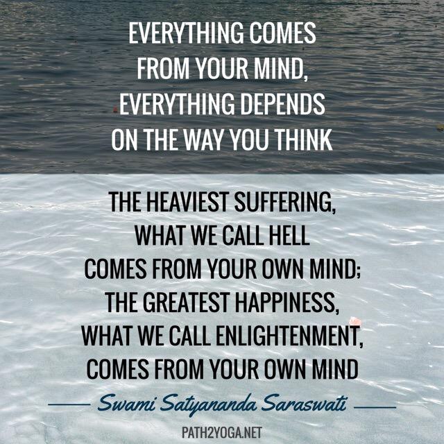 Inspiring Yoga Quote by Swami Satyananda Saraswati