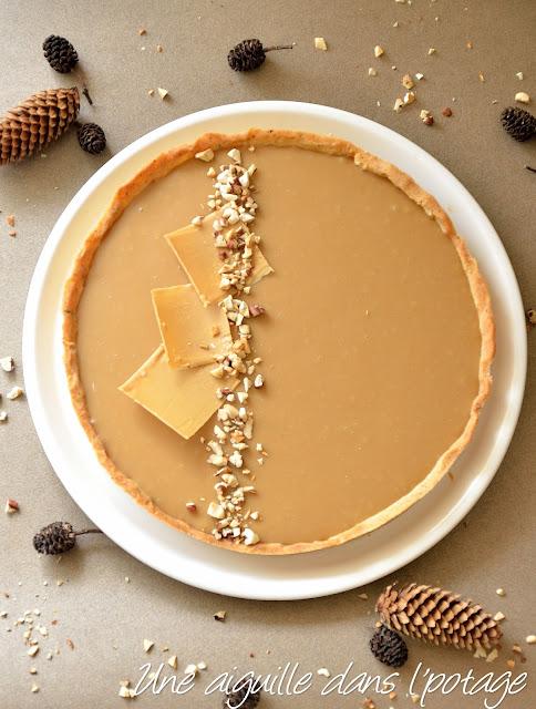 Tarte noisette et chocolat dulcey