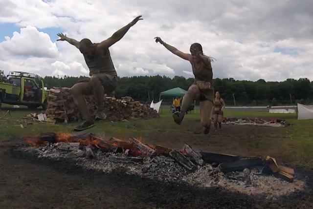 Rugged Maniac Fire Jump