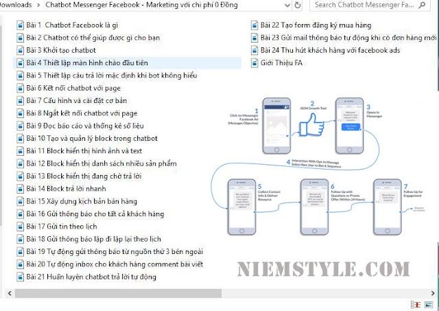 Khóa học Chatbot Messenger Facebook - Marketing với chi phí 0 Đồng