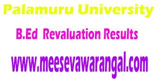 Palamuru University B.Ed 2016 Revaluation Results